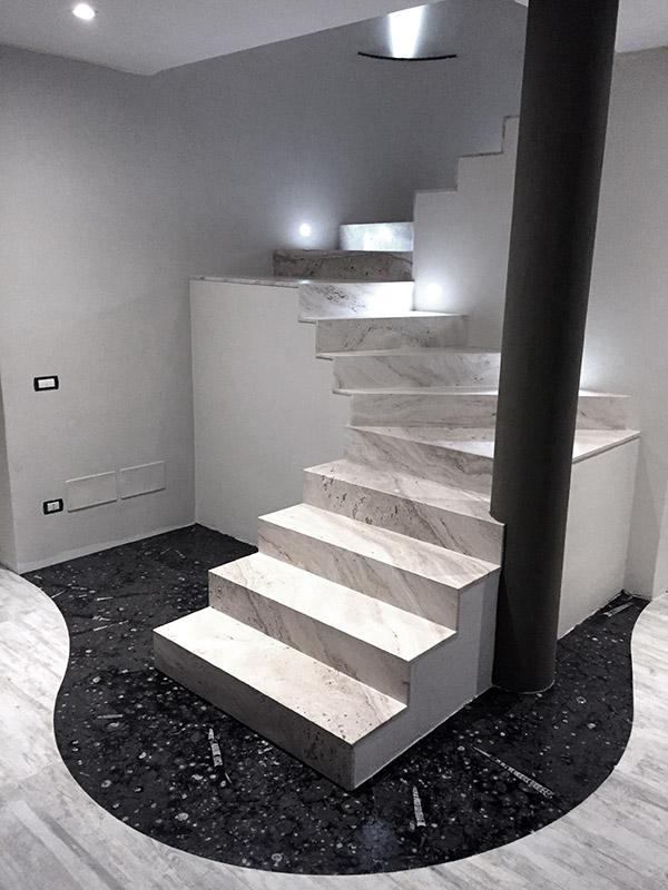 scala in marmo bravi marmi